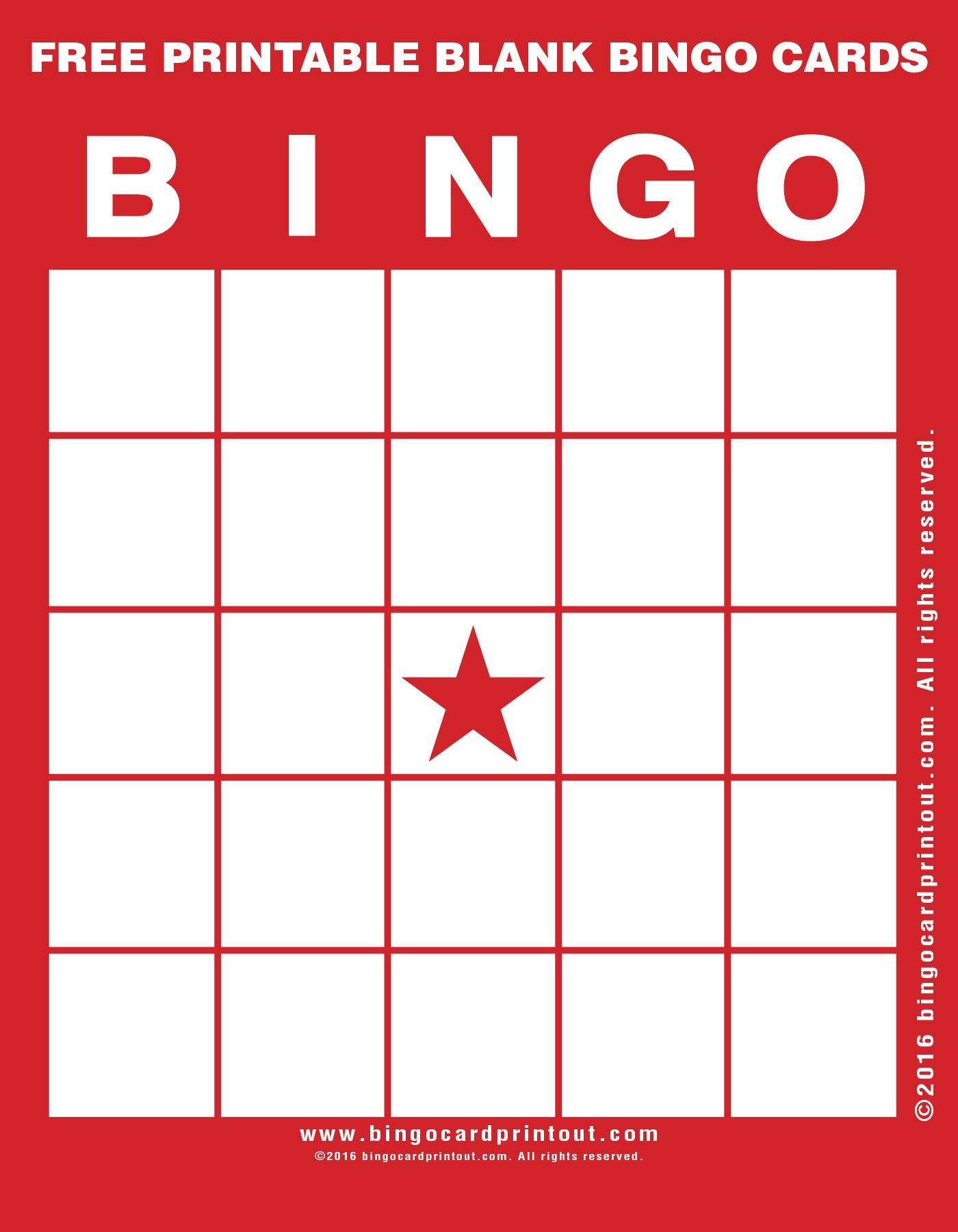Free Printable Blank Bingo Cards - Bingocardprintout - Free Printable Bingo Cards