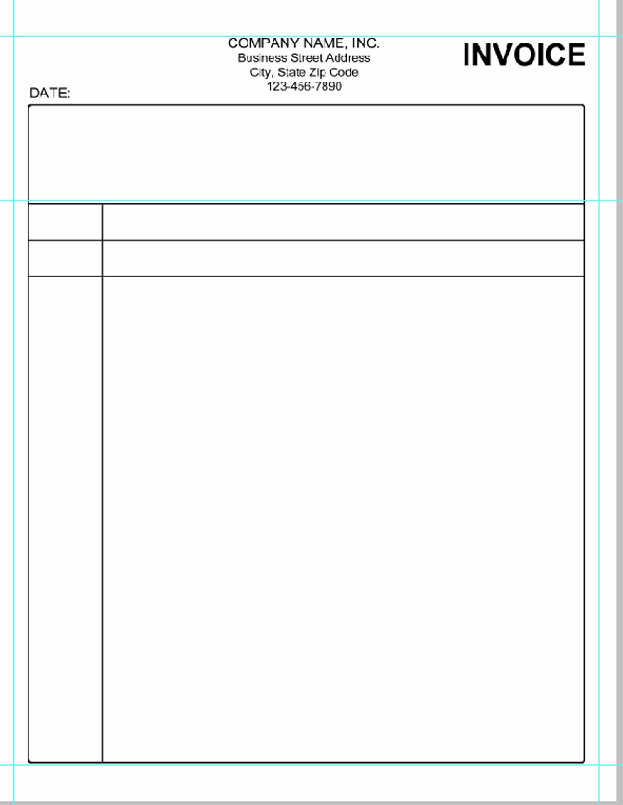 Free Printable Blank Invoice Sheet Templates Word Template Sample - Free Printable Blank Invoice Sheet