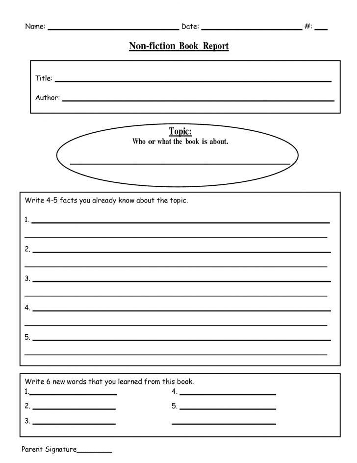 Book Report Template Free Printable