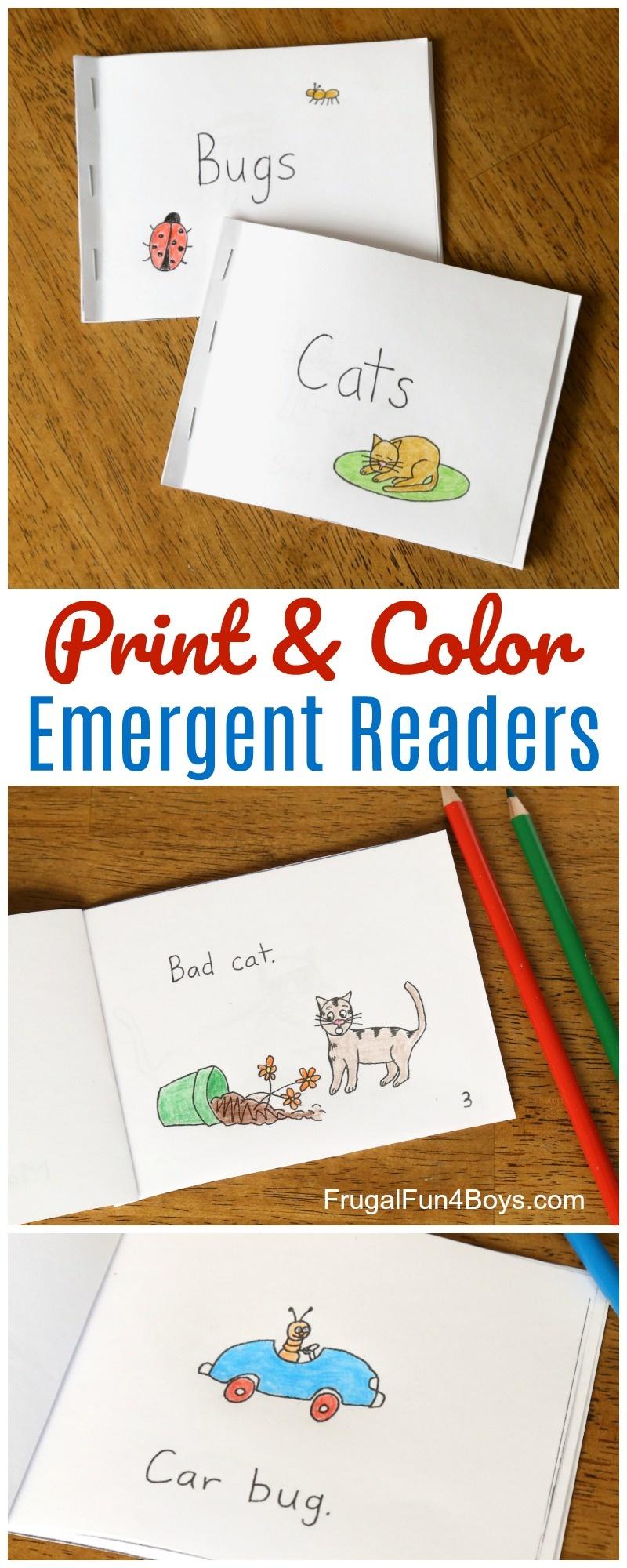 Free Printable Books For Beginning Readers - Level 1 (Easy) - Frugal - Free Printable Leveled Readers For Kindergarten