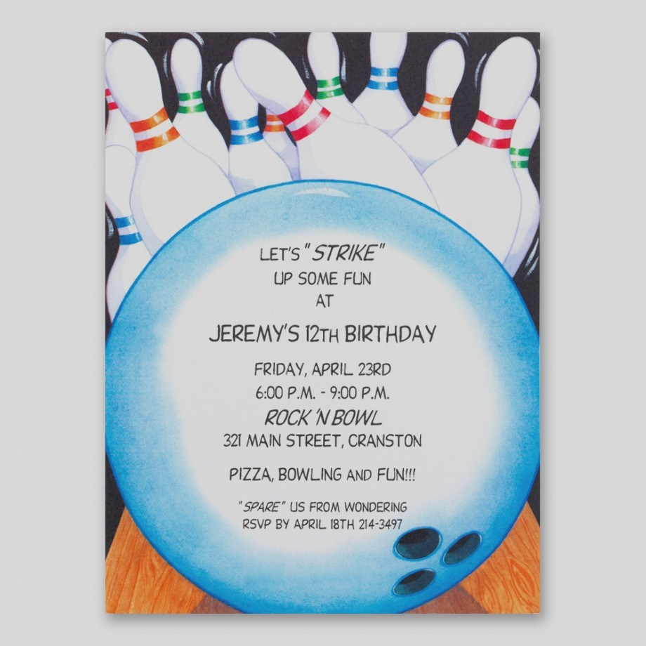 Free Printable Bowling Party Invitation Templates - Making-The-Web - Free Printable Bowling Invitation Templates