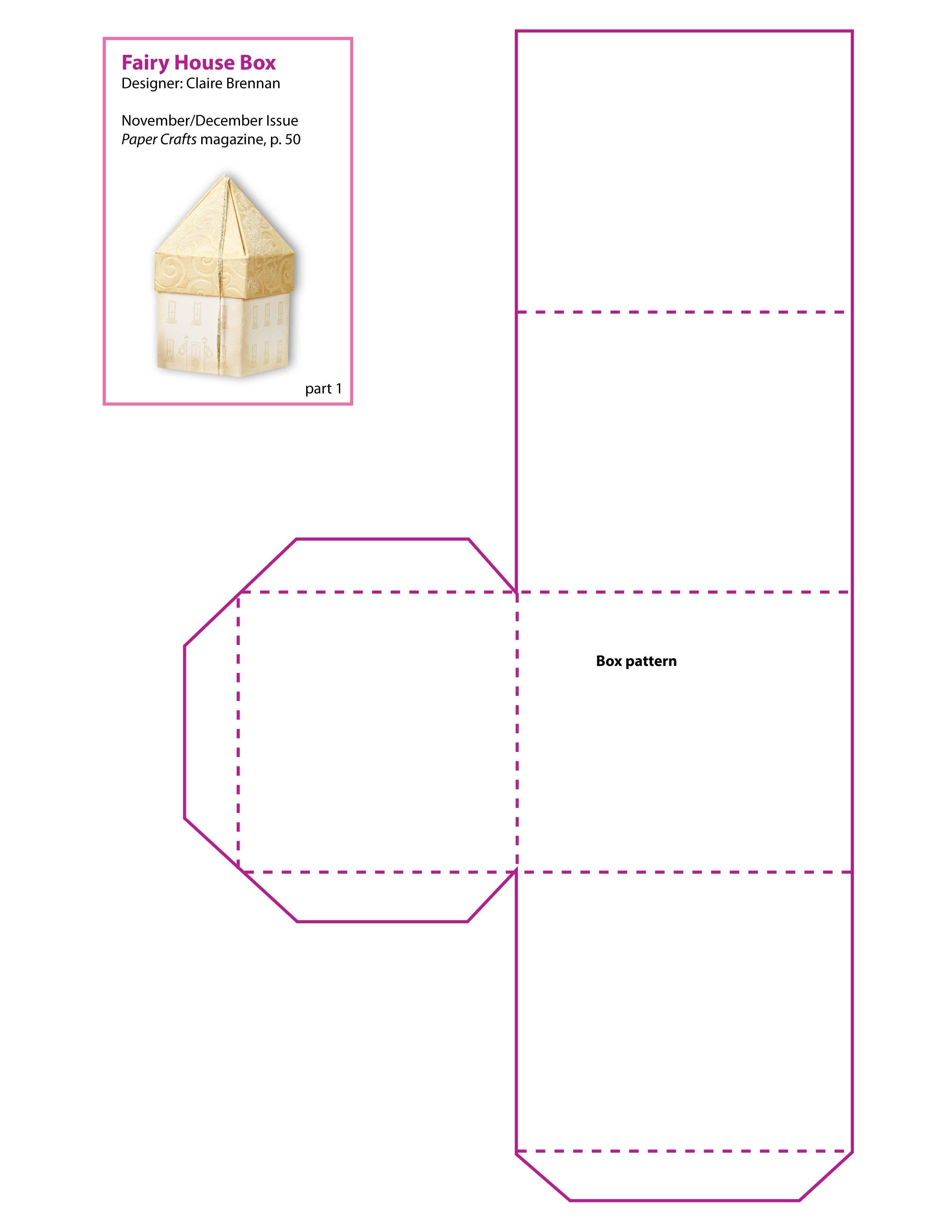 Free Printable Boxes Patterns   Free Printable Scrapbook Pages,print - Box Templates Free Printable