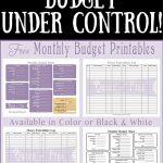 Free Printable Budget Worksheet   Queen Of Free   Free Printable Budget Sheets