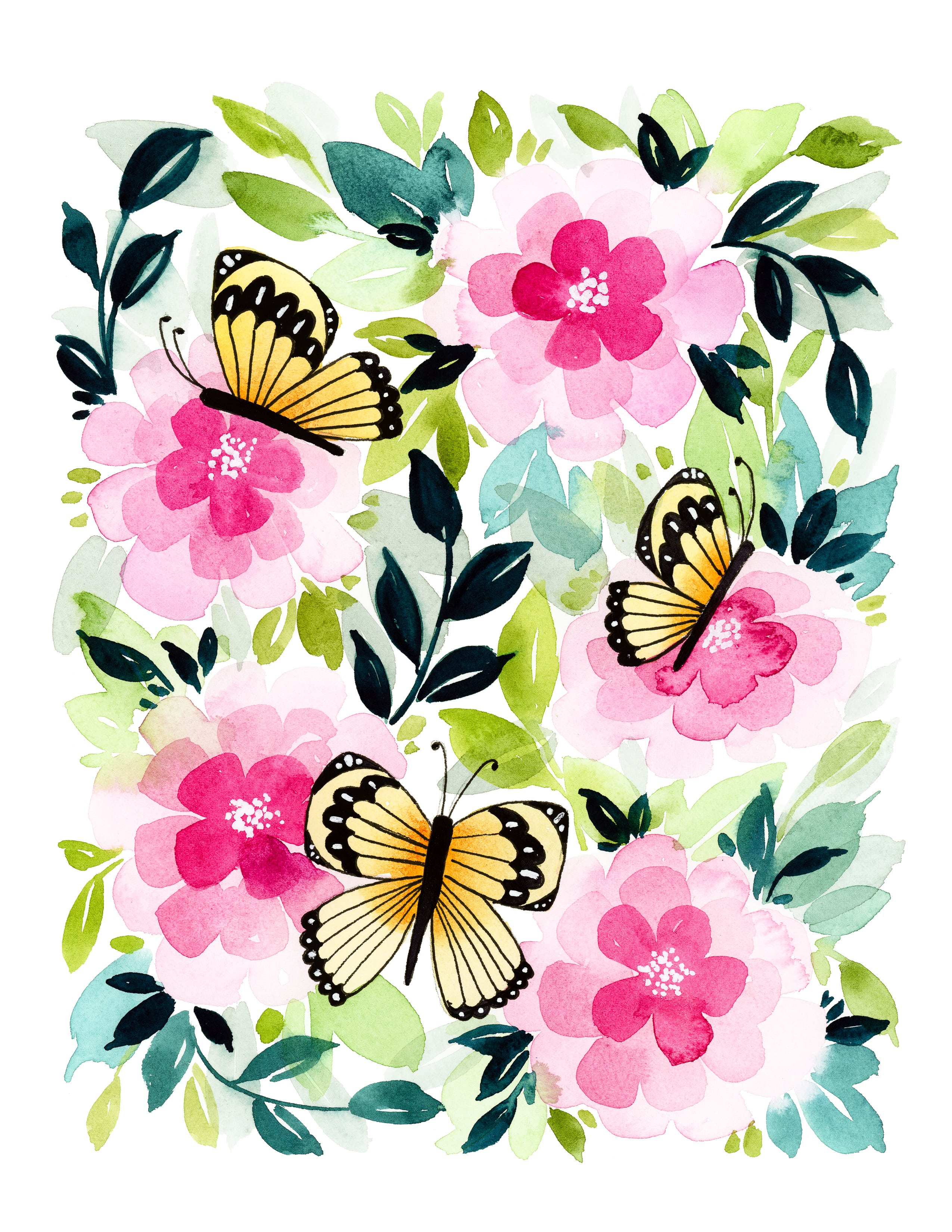 Free-Printable-Butterfly-Garden-Card-1 - Tinselbox - Free Printable Butterfly