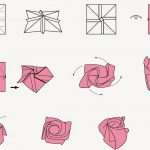 Free Printable Cards: Free Printable Origami Rose | Papercutting - Printable Origami Instructions Free