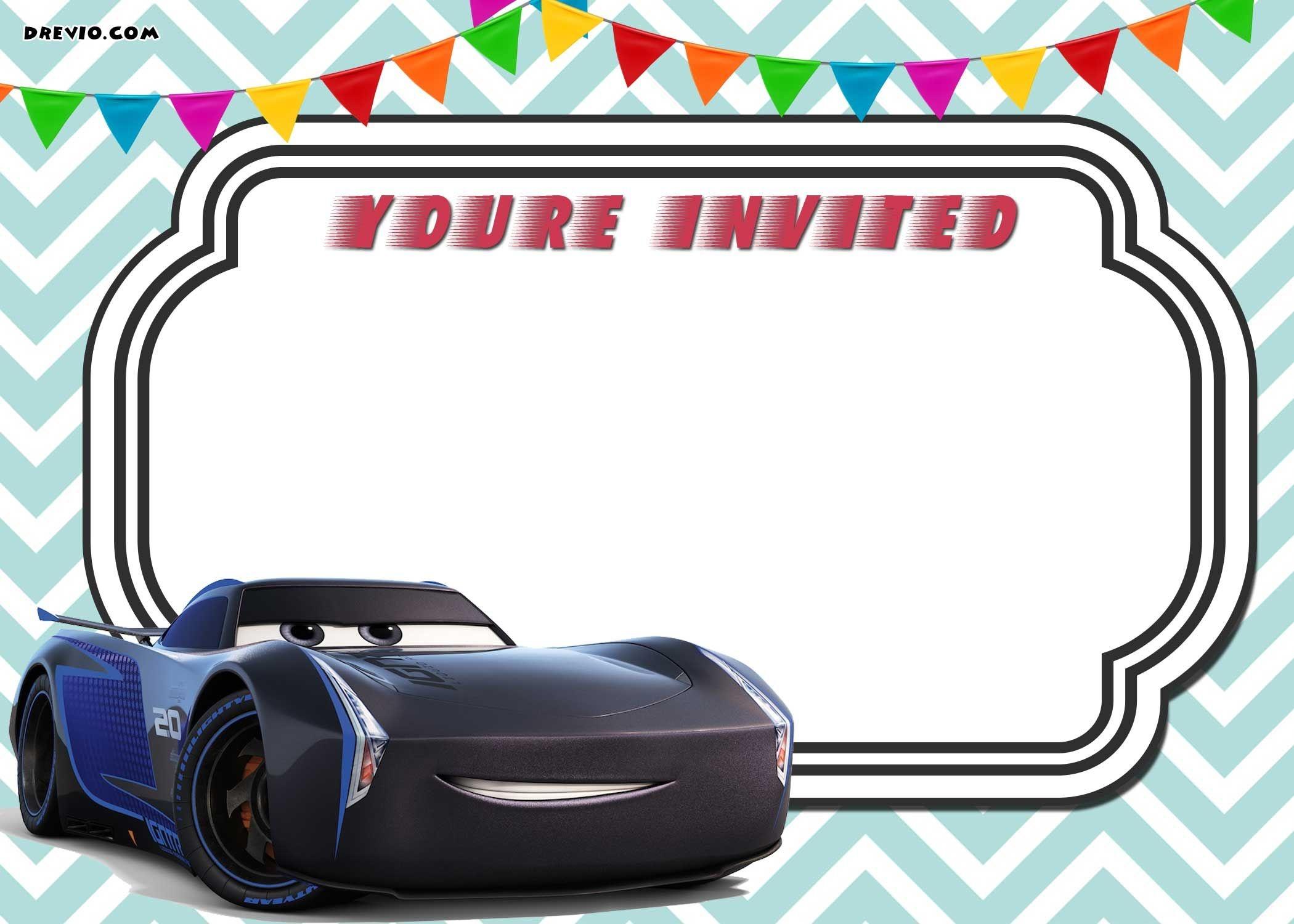 Free Printable Cars 3 Lightning Mcqueen Invitation Template   Free - Free Printable Car Template