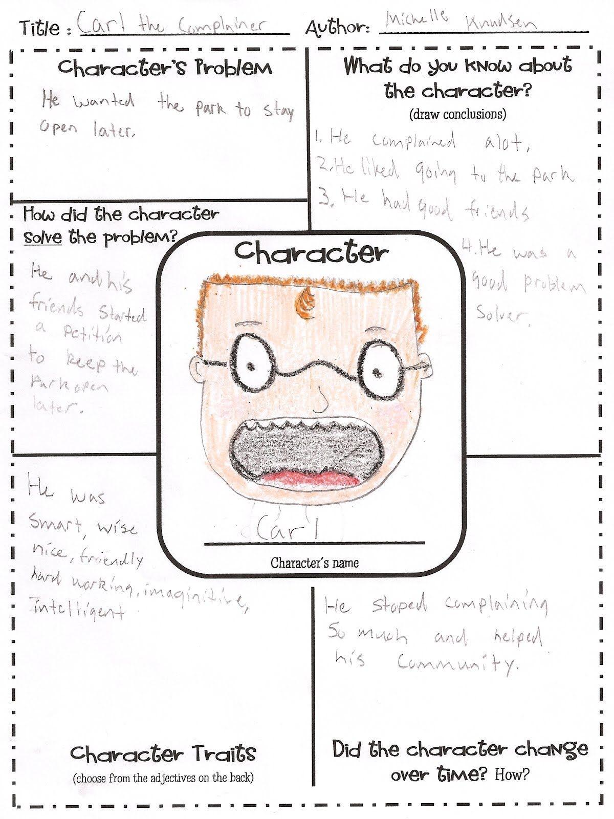 Free Printable Character Map | Intermediate Grade Reading | Teaching - Free Printable Character Map