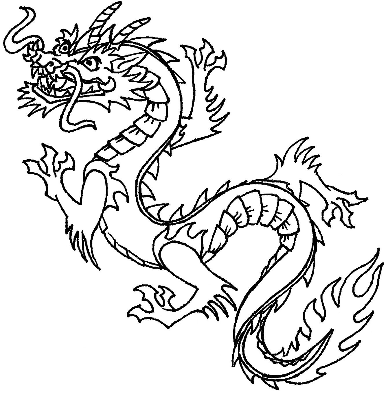 Free Printable Chinese Dragon Coloring Pages For Kids | Stencils - Free Printable Chinese Dragon Coloring Pages