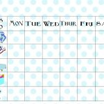 Free Printable Chore Chart   Free Printable Chore Charts For Kids With Pictures