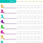 Free Printable Chore Charts For Kids + Ideasage   Free Printable Chore Charts For Kids With Pictures