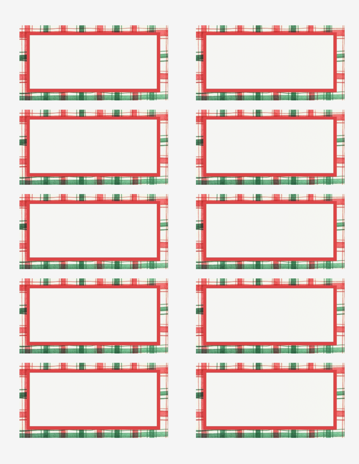 Free Printable Christmas Address Labels – Happy Holidays! – Free - Free Printable Christmas Return Address Label Template