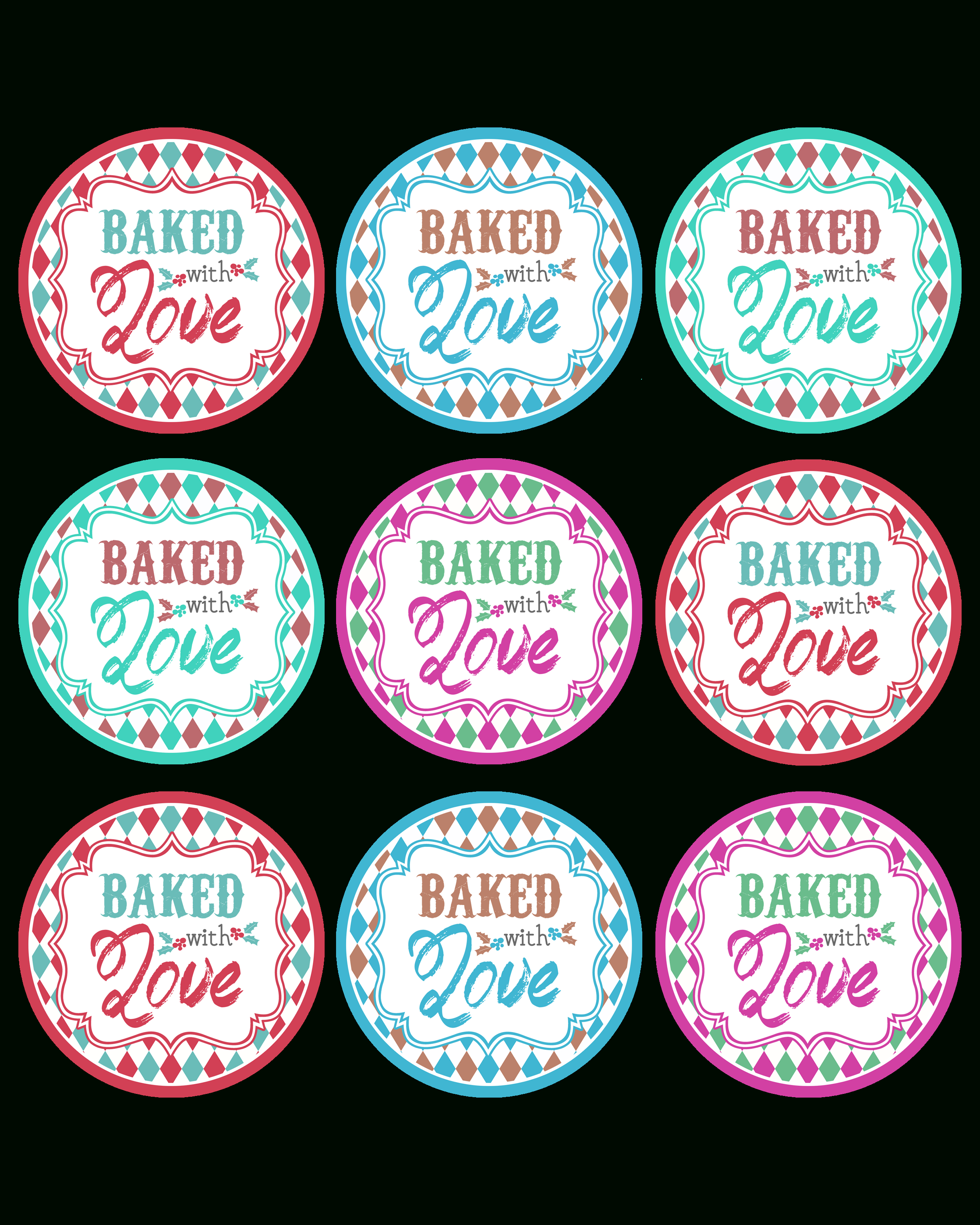 Free Printable Christmas Baking Labels – Festival Collections - Free Printable Baking Labels