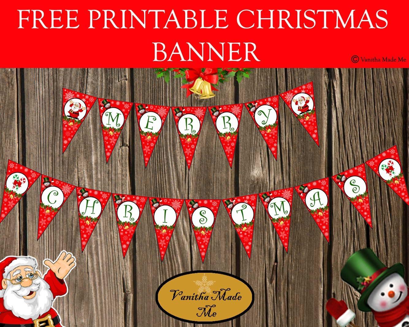 Free Printable Christmas Banner   Kreatívságok - Free Printable Christmas Banner