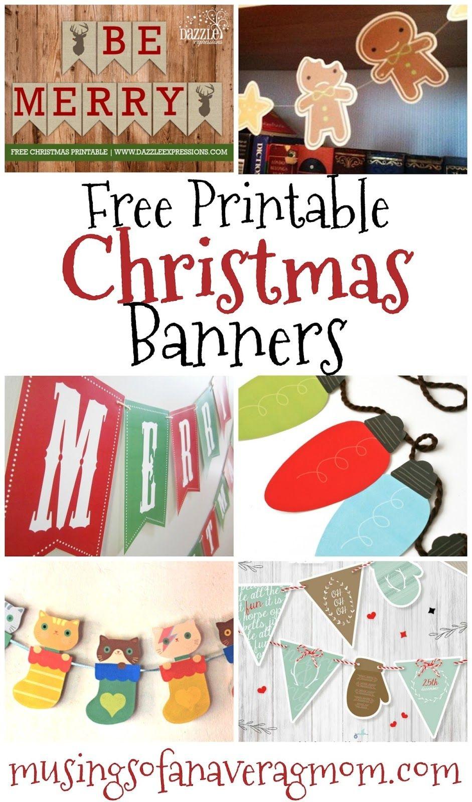 Free Printable Christmas Banners   Banner Letters   Free Christmas - Free Printable Christmas Banner
