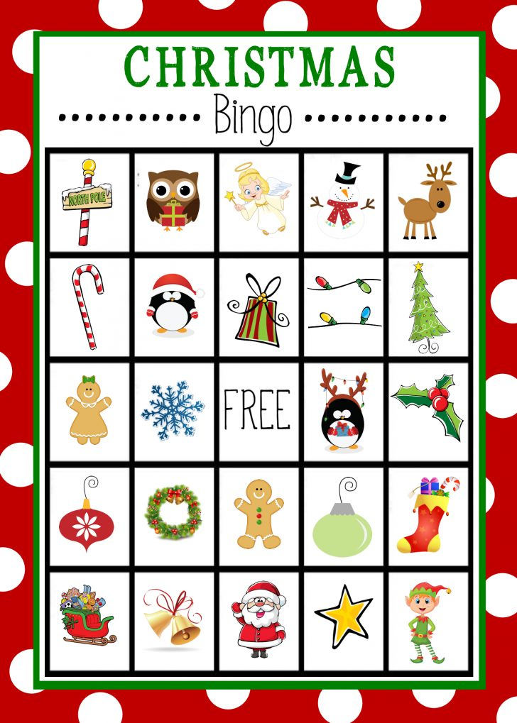 Christmas Bingo Game Printable Free