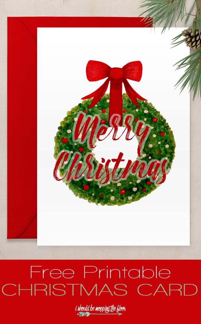 Free Printable Christmas Card   Sharing Christmas Spirit   Free - Free Printable Xmas Cards