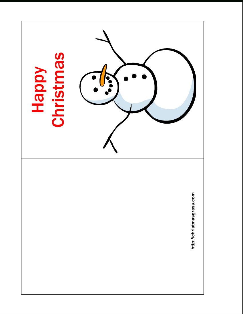 Free Printable Christmas Cards   Free Printable Happy Christmas Card - Free Printable Xmas Cards