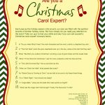 Free Printable Christmas Carol Quiz   American Greetings   Christmas Song Lyrics Game Free Printable