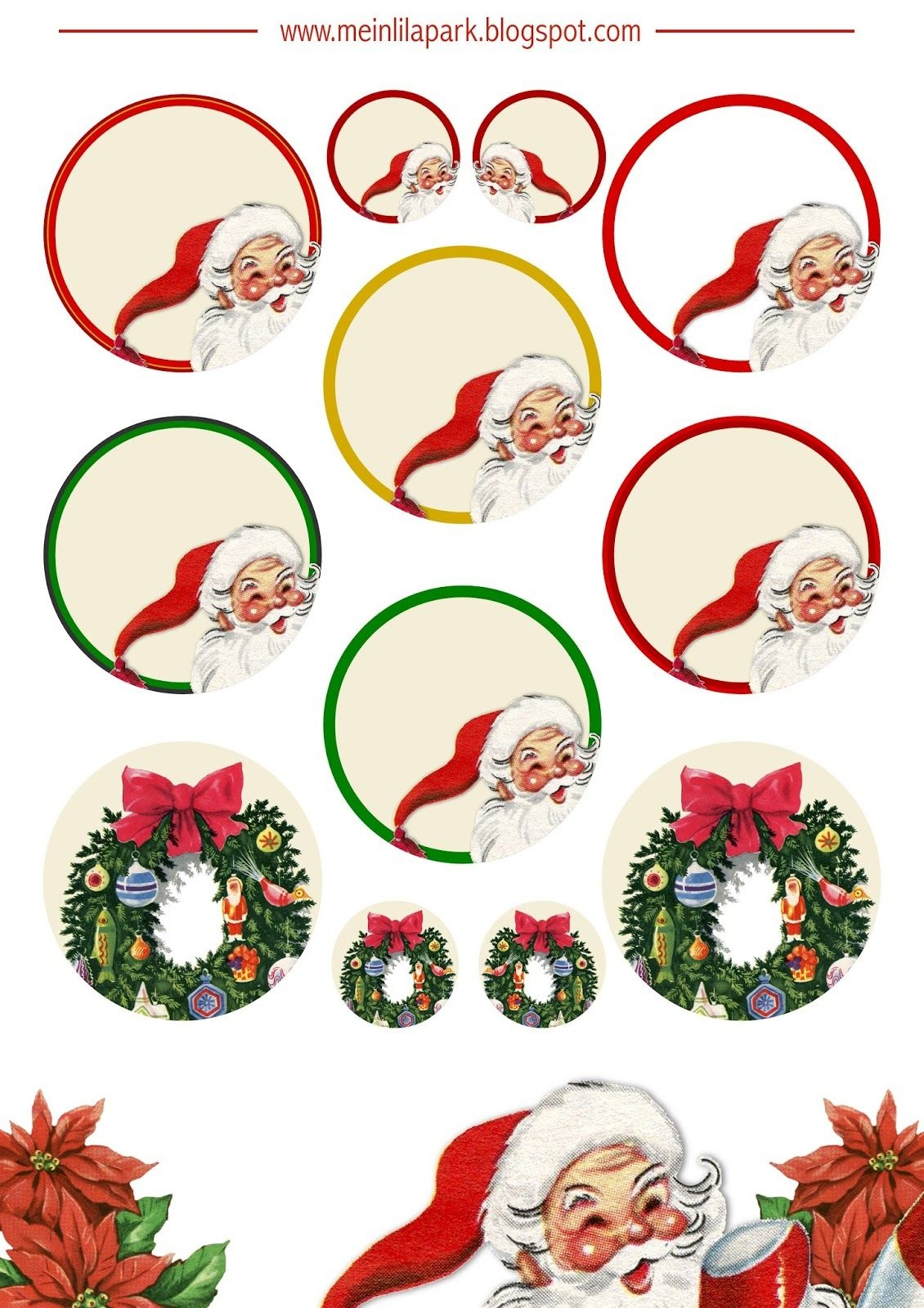 Free Printable Christmas Clip Art - Ausdruckbare Weichnachts-Clipart - Free Printable Christmas Clip Art