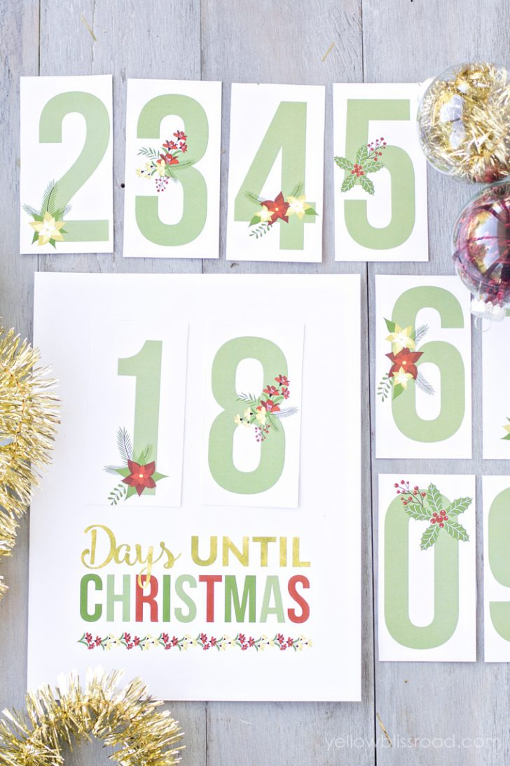 Christmas Countdown Free Printable