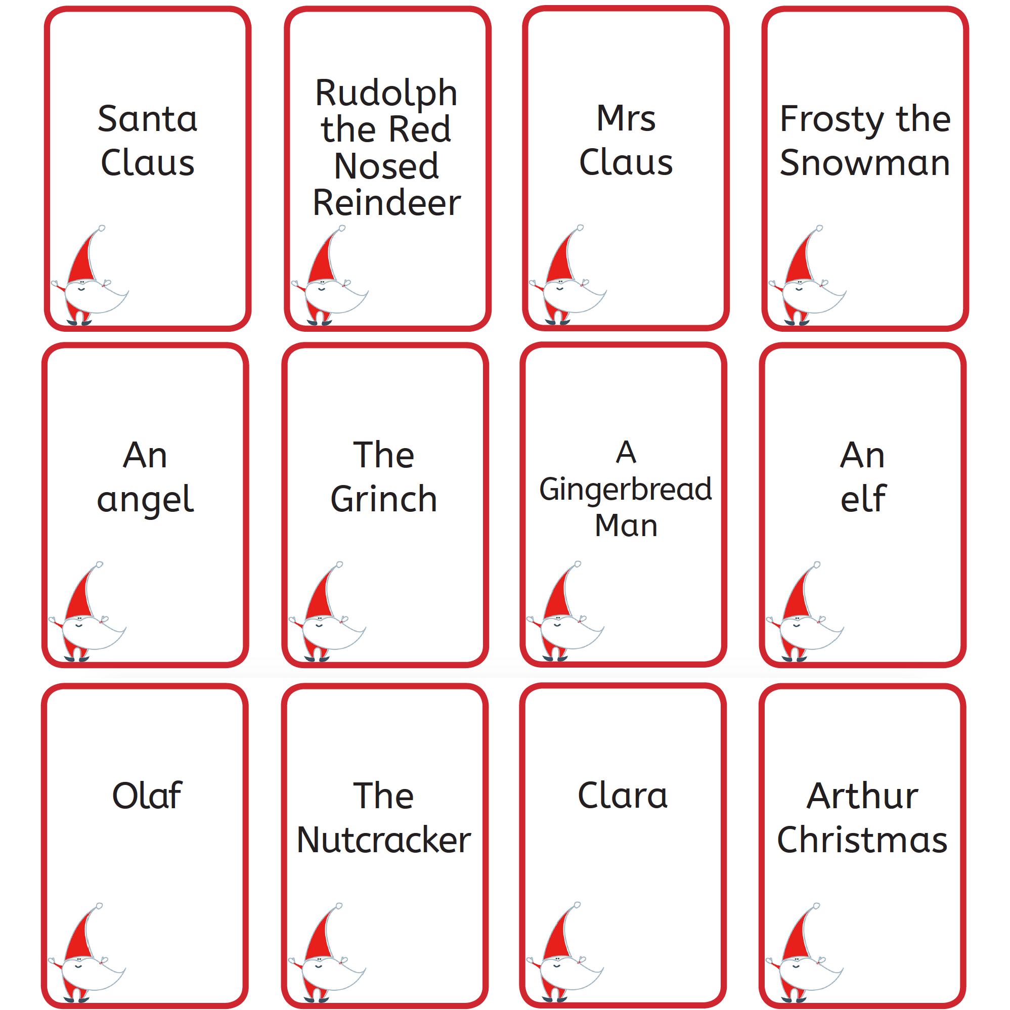 Free Printable Christmas Games: Christmas Who Am I? - Free Printable Christmas Games For Preschoolers