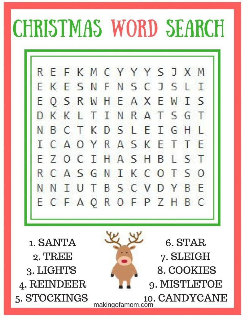 Free Printable Christmas Games - Making Of A Mom - Free Printable Christmas Games And Puzzles