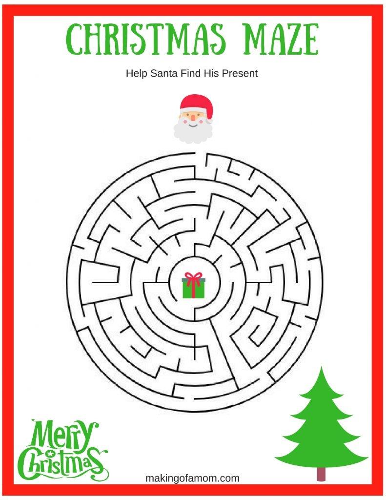 Free Printable Christmas Games - Making Of A Mom - Free Printable Christmas Pictures