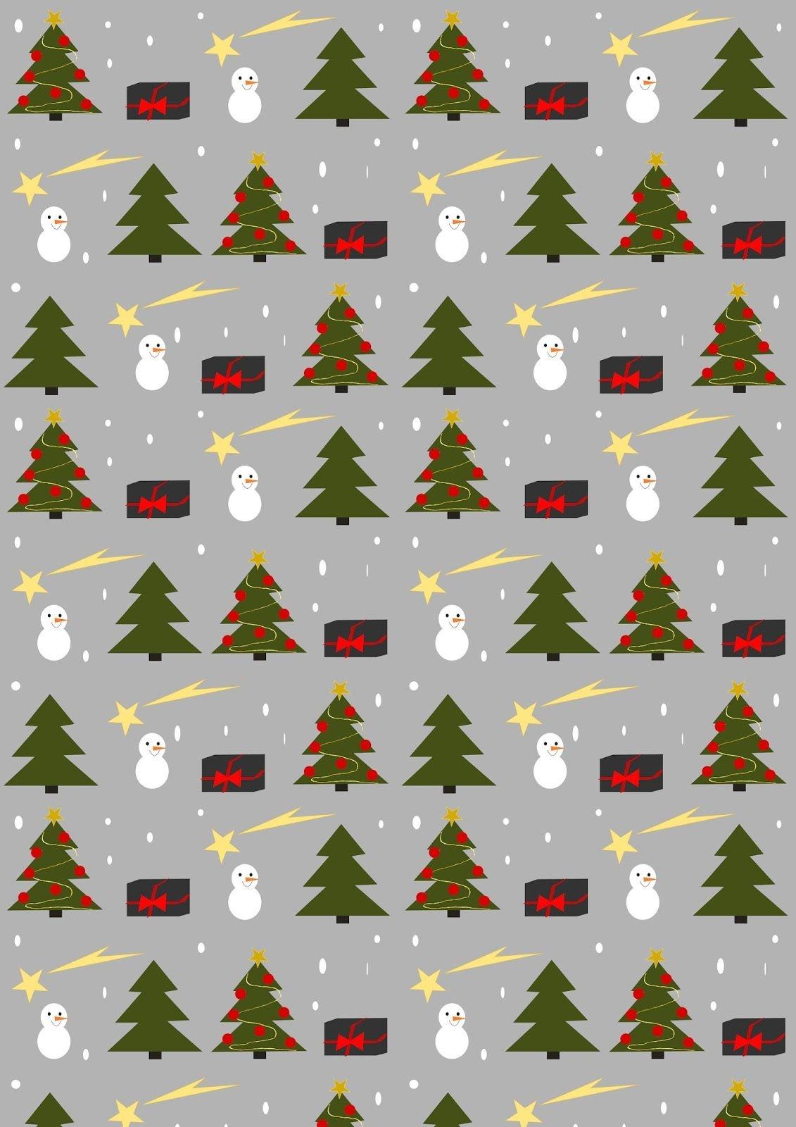 Free Printable Christmas Joy Wrapping Paper - Ausdruckbares - Free Printable Christmas Paper