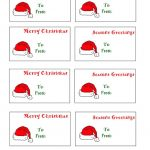 Free Printable Christmas Labels Santa Hat Christmas Gift Tags To   Free Printable Holiday Labels