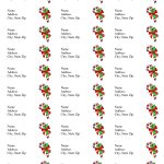 Free Printable Christmas Labels Templates | Christmas Address Labels   Free Printable Holiday Labels