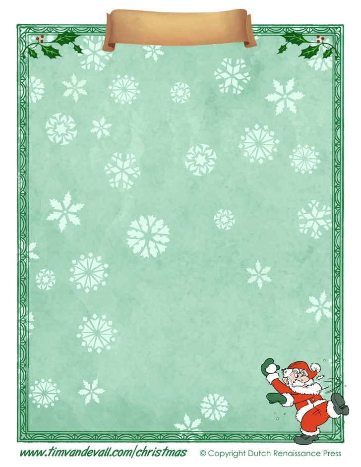 Free Printable Santa Paper