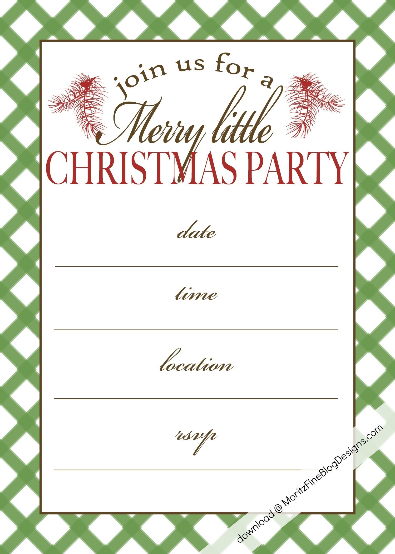 Free Printable Christmas Party Invitation | Christmas:print - Holiday Invitations Free Printable