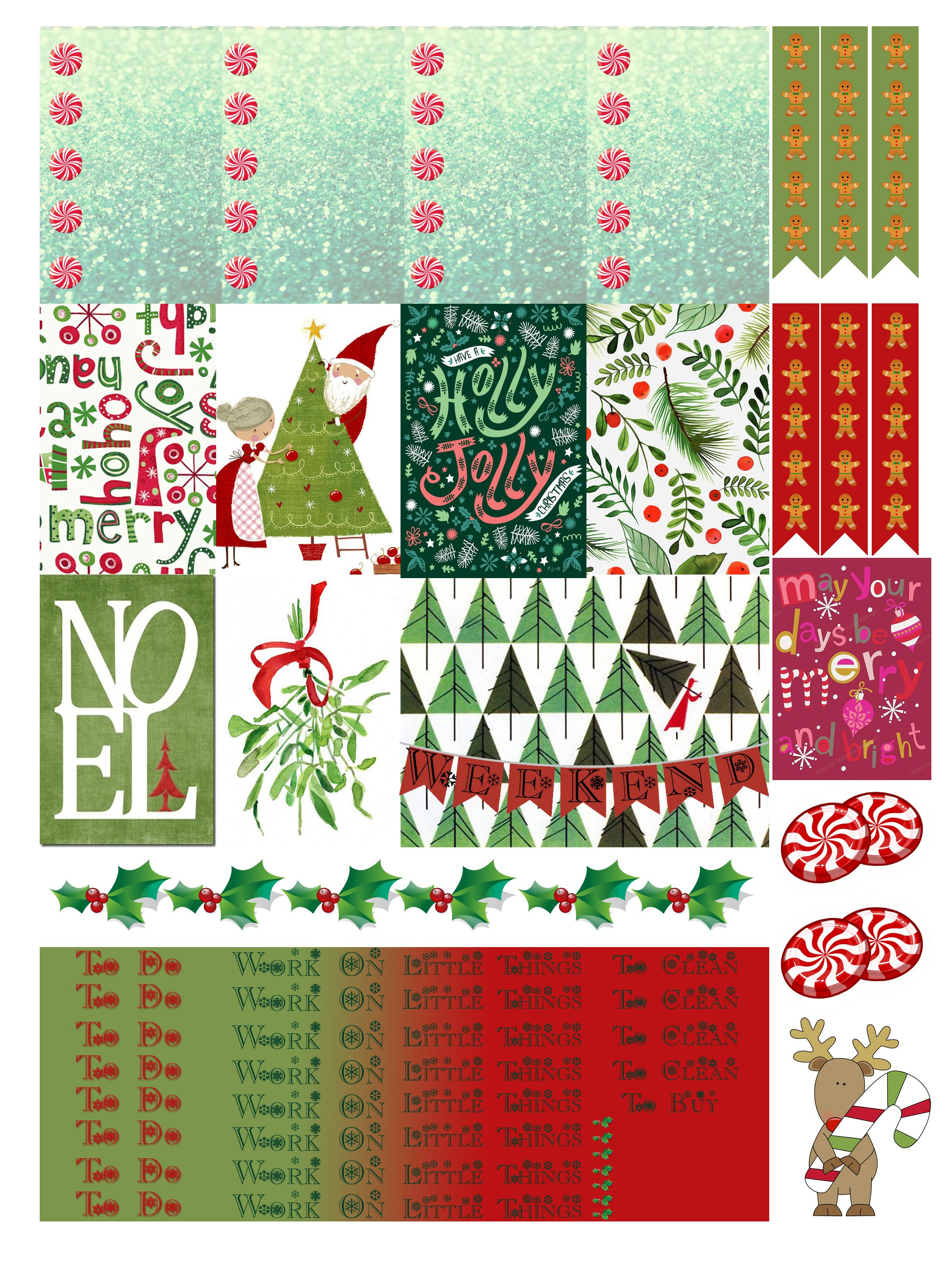 Free Printable Christmas Planners Stickers From Monica Alicia - Free Printable Holiday Stickers