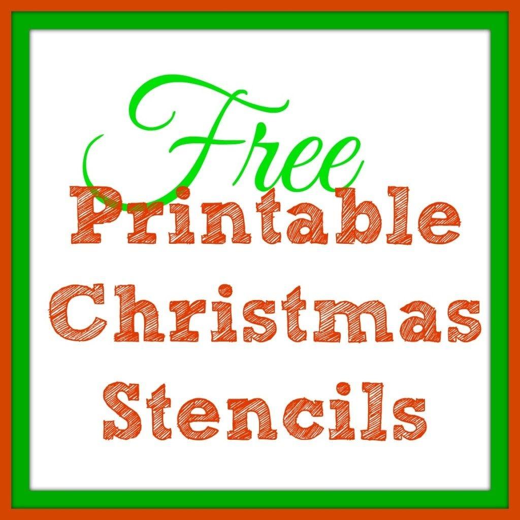 Free Printable Christmas Stencils – Christmas Tree Templates & Santa - Free Printable Christmas Craft Templates