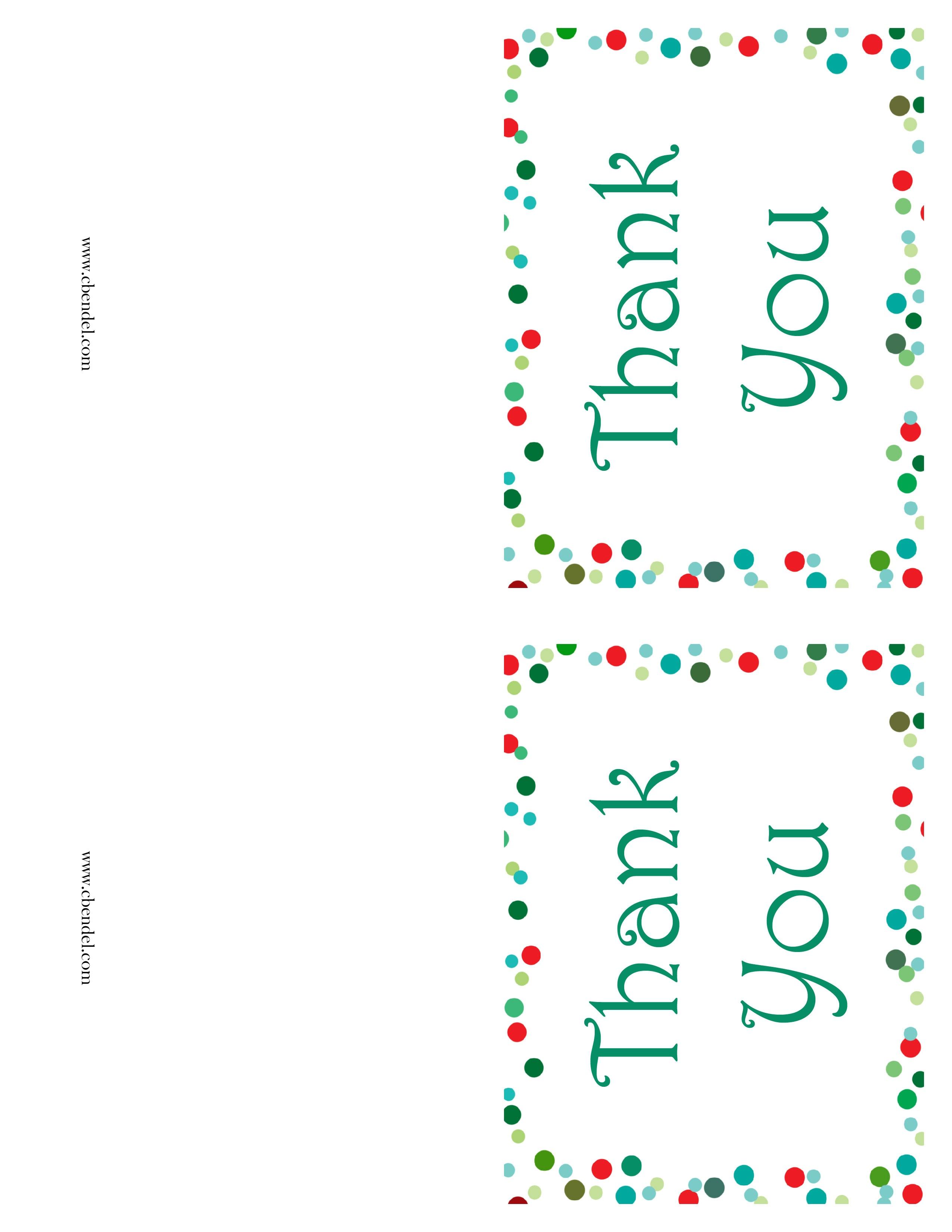 Free Printable Christmas Thank You Cards - Christmas Thank You Cards Printable Free