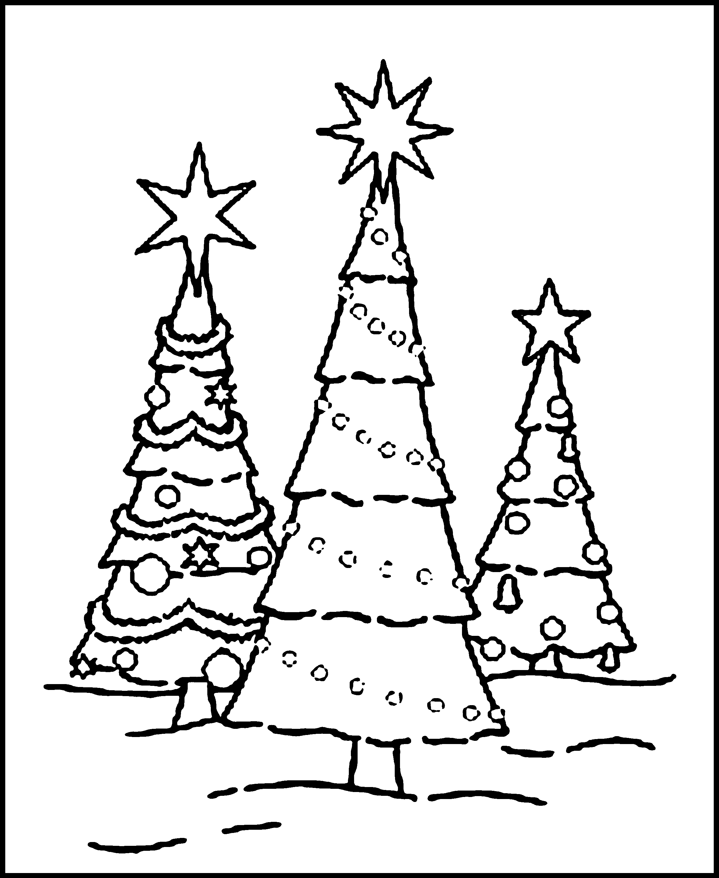 Free Printable Christmas Tree Coloring Pages For Kids - Free Printable Christmas Tree Ornaments Coloring Pages