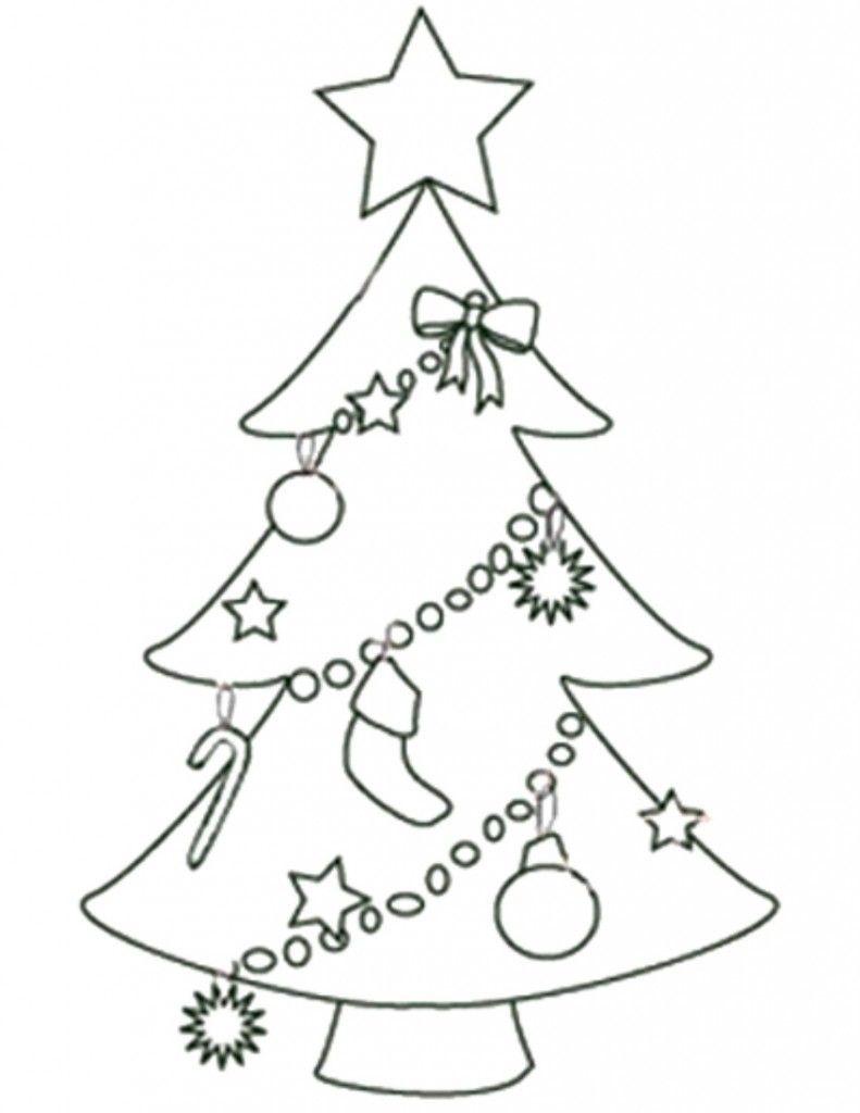 Free Printable Christmas Tree Templates - Coloring Home - Free Printable Christmas Tree Images