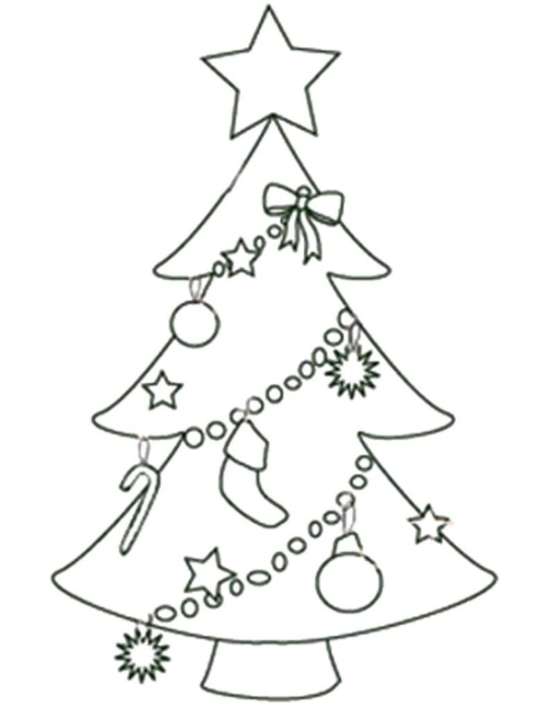 Free Printable Christmas Tree Templates   Free Printable Coloring - Free Printable Christmas Tree Ornaments Coloring Pages