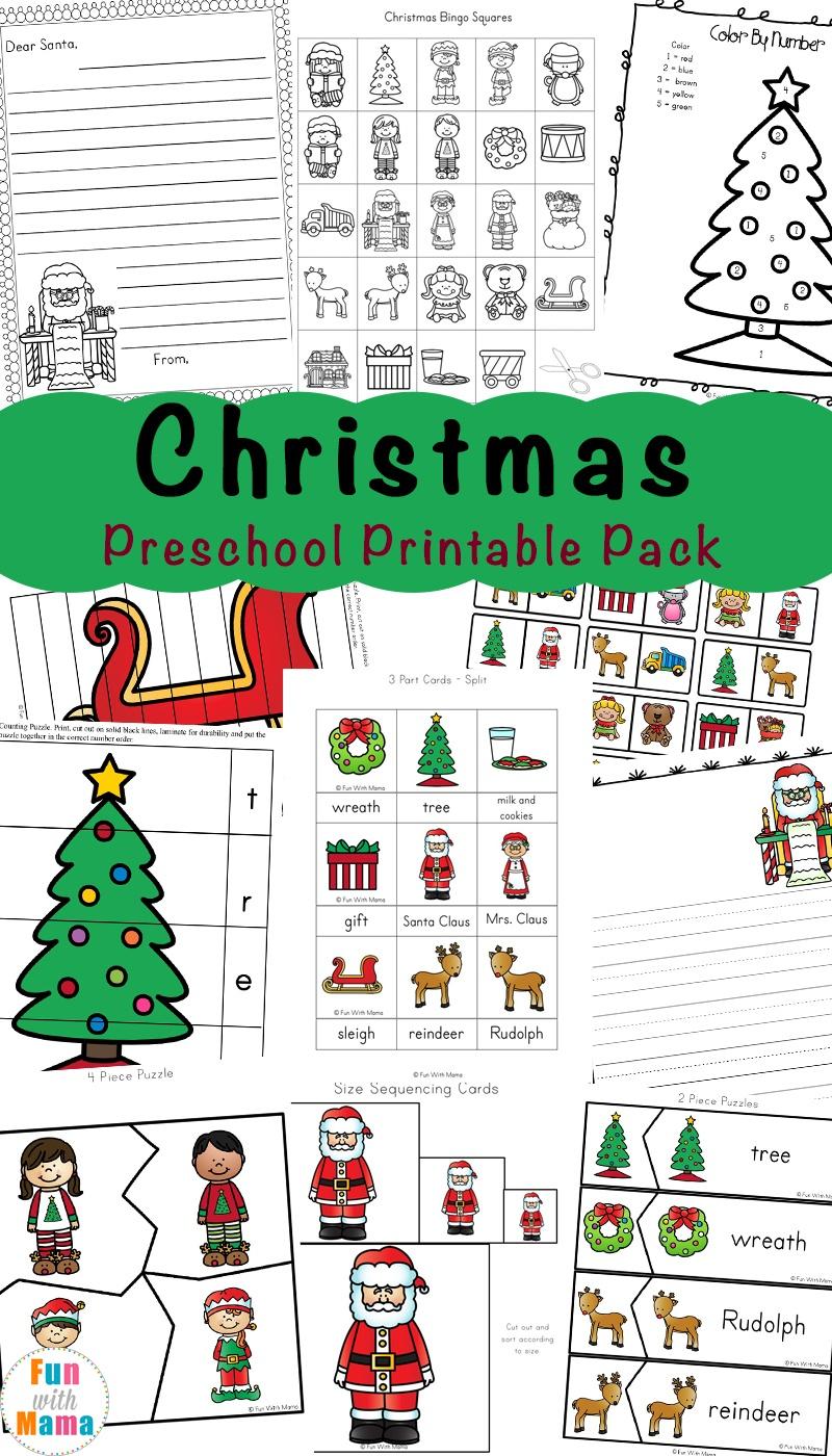Free Printable Christmas Worksheets - Fun With Mama - Free Printable Christmas Pictures