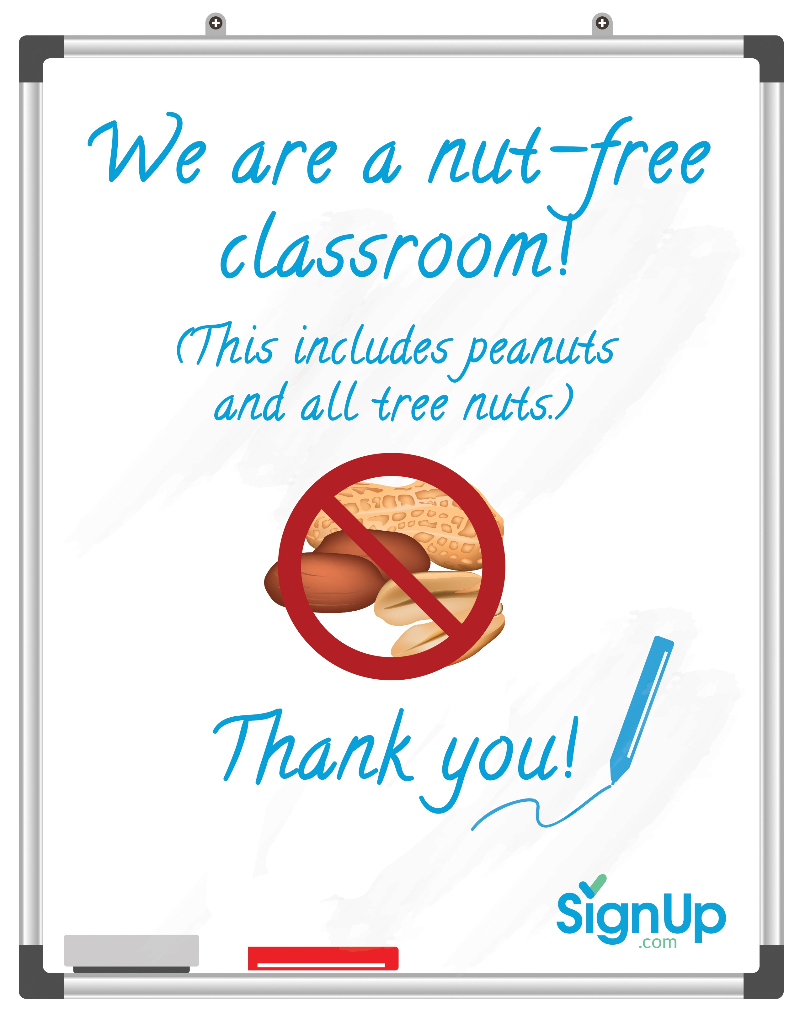 Free Printable Classroom Signs   Signup - Printable Peanut Free Classroom Signs