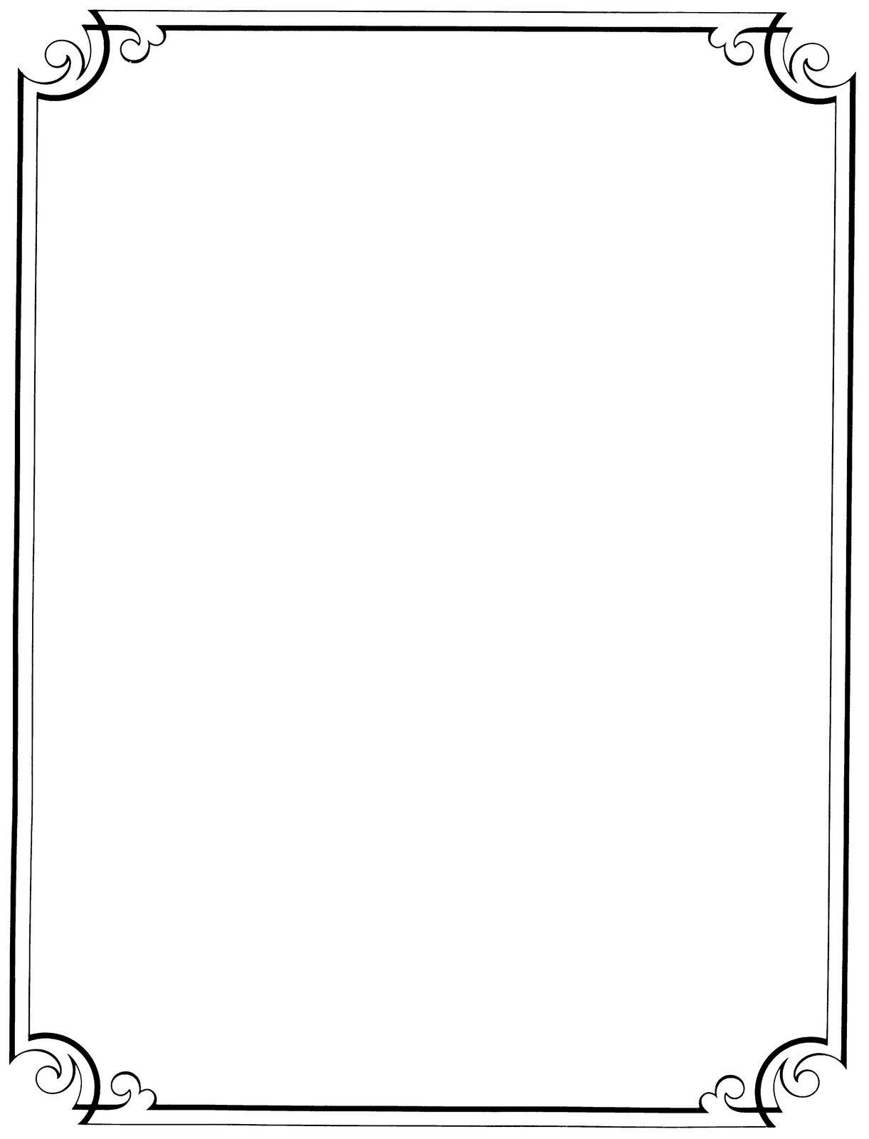 Free Printable Clip Art Borders |  : Free Vintage Clip Art - Free Printable Border Paper