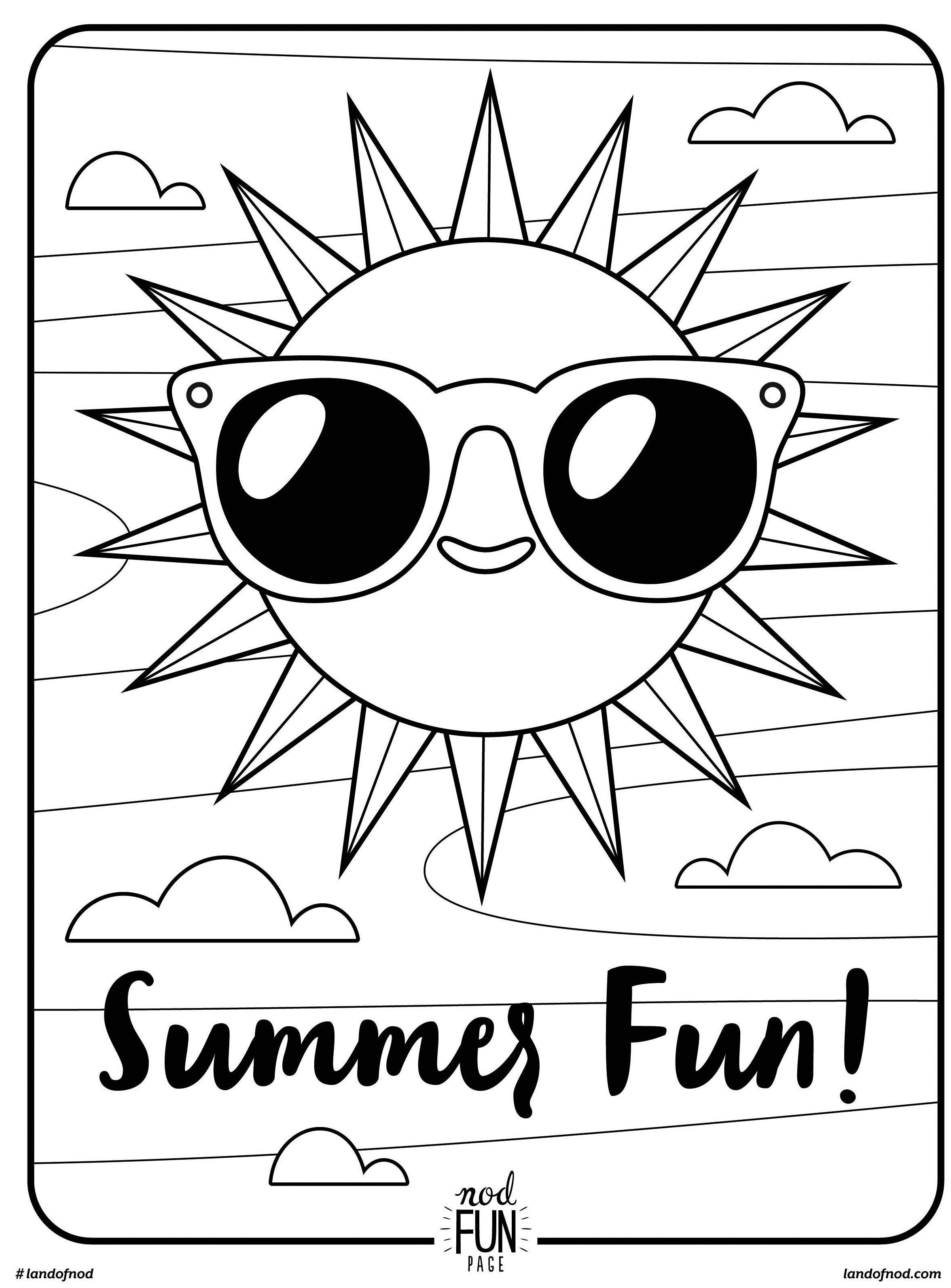 Free Printable Coloring Page: Summer Fun | Summer | Summer Coloring - Free Printable Summer Coloring Pages