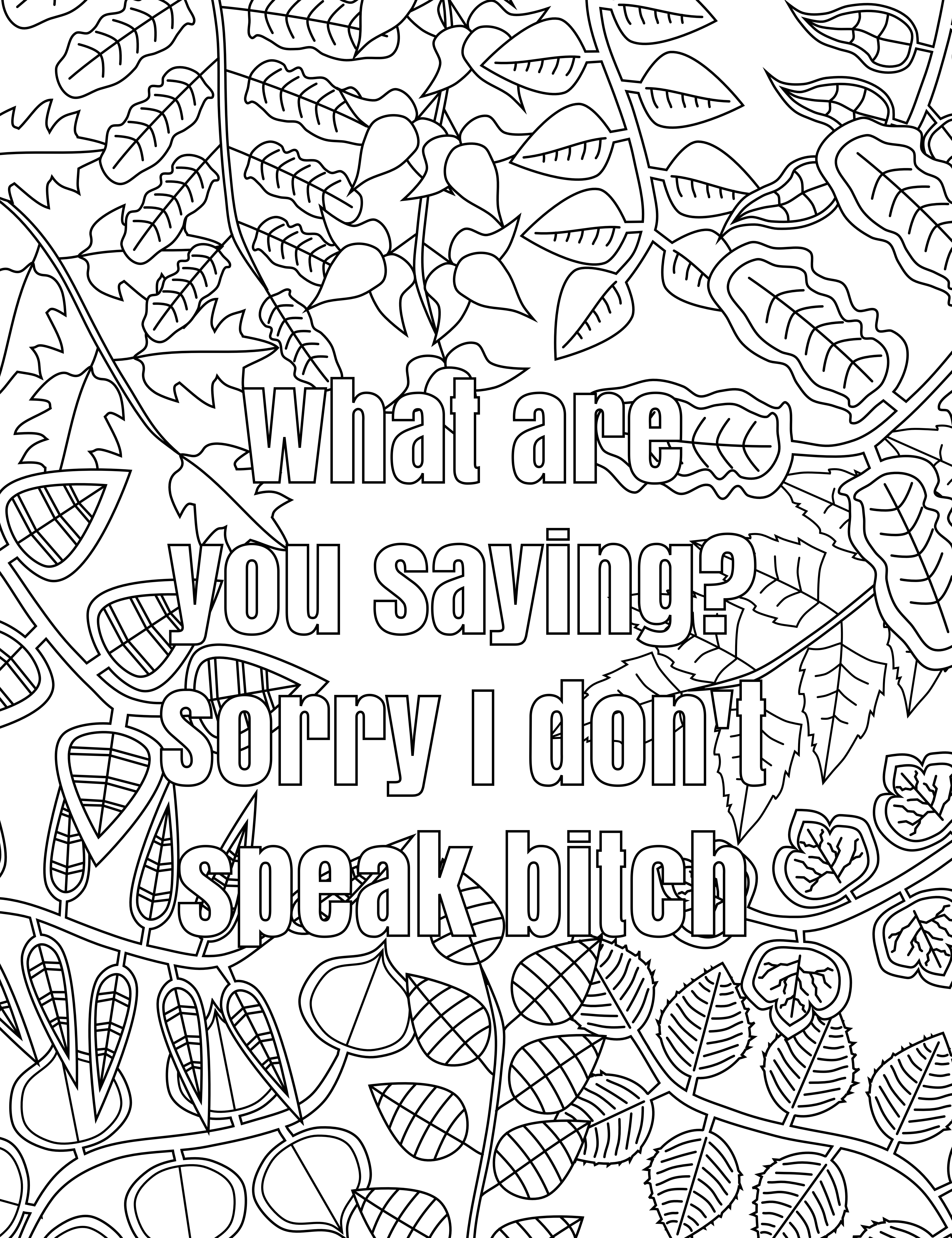 Free Printable Swear Word Coloring Pages | Free Printable