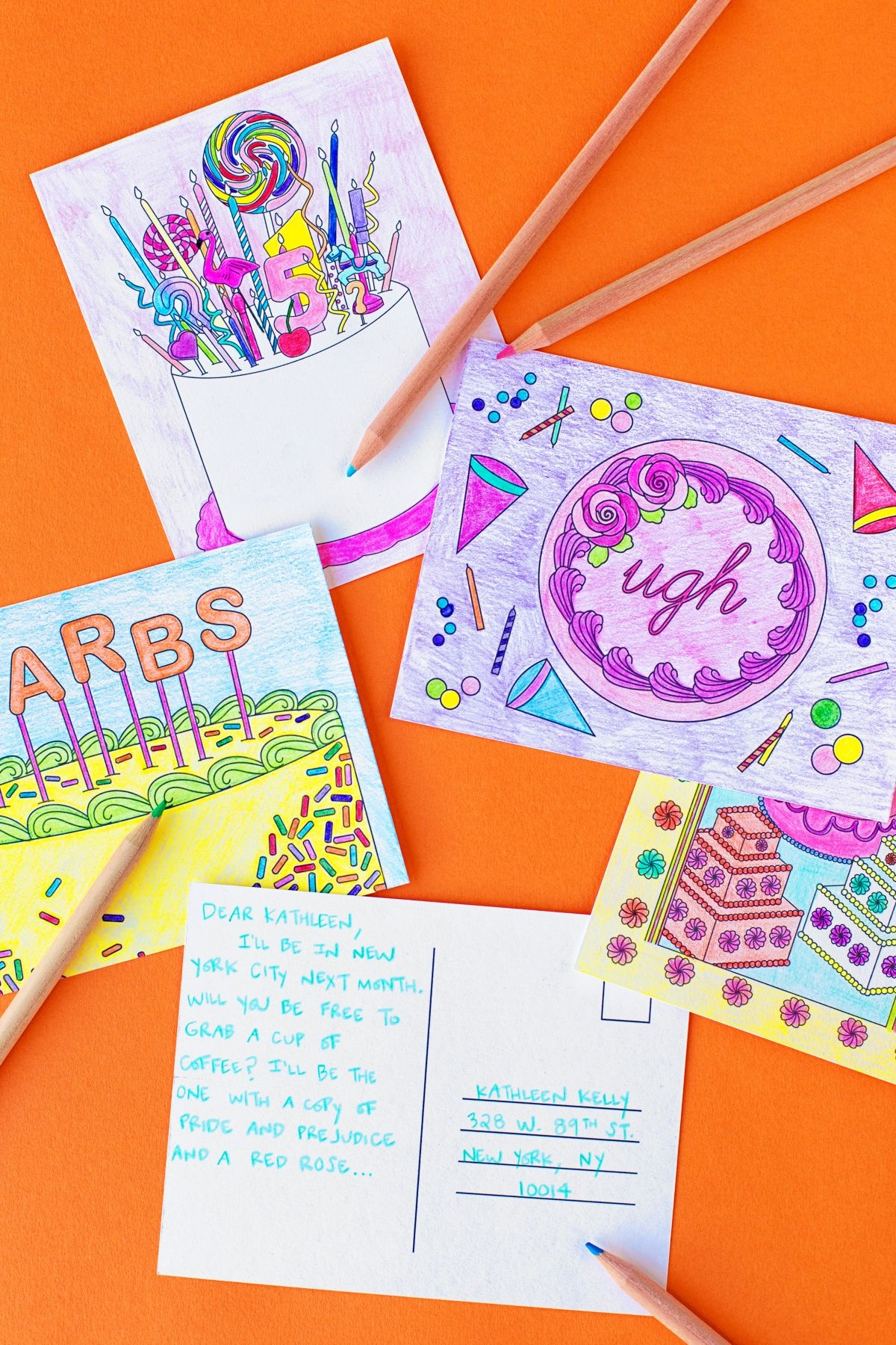 Free Printable Coloring Postcards | Cards And Invitations - Free Printable Postcards