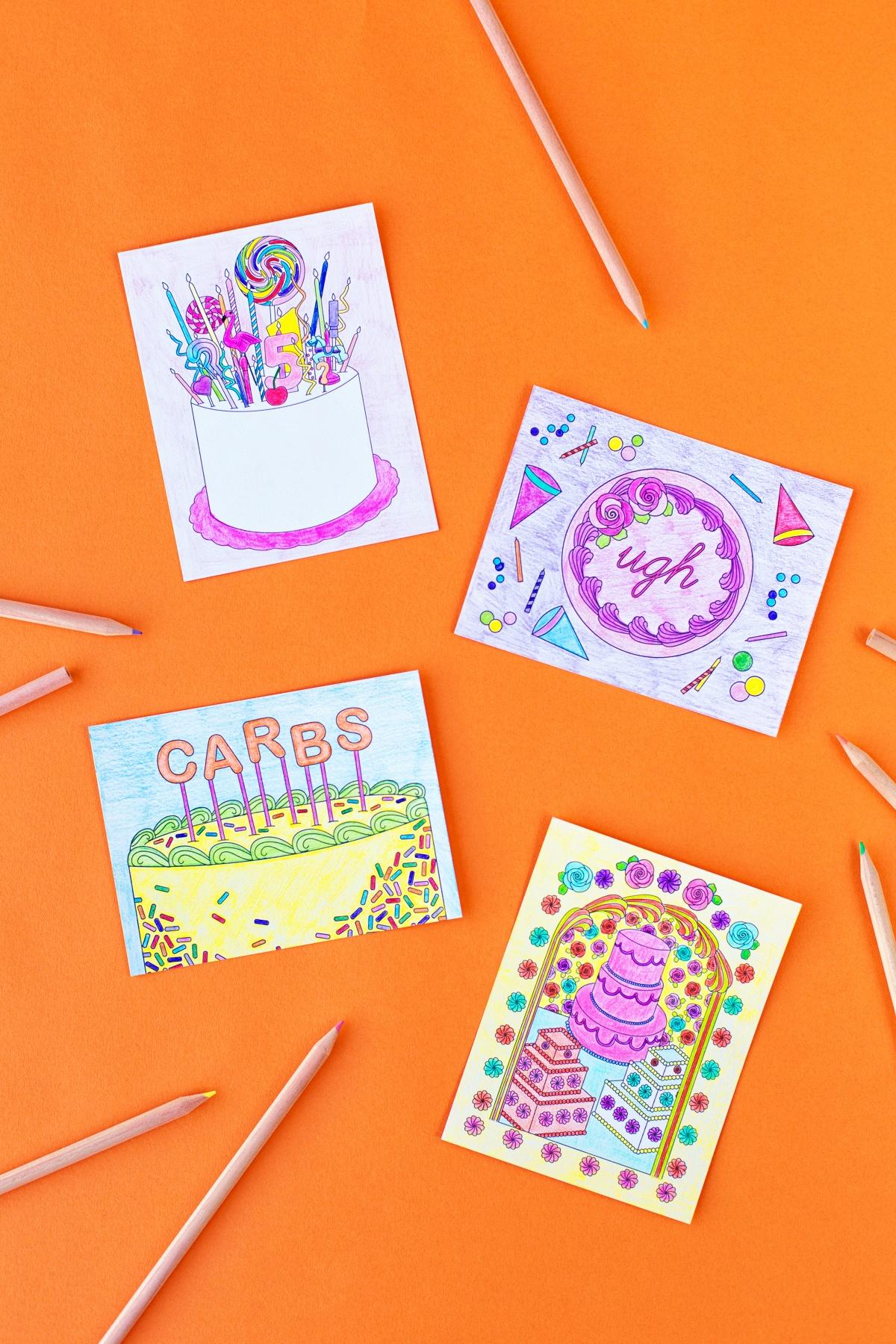 Free Printable Coloring Postcards - Studio Diy - Free Printable Postcards