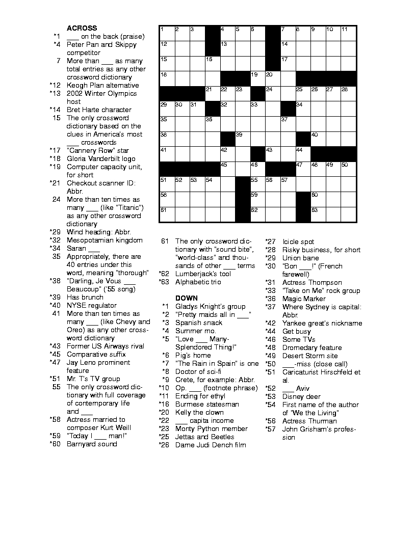 Free Printable Crossword Puzzles For Adults | Puzzles-Word Searches - Free Daily Online Printable Crossword Puzzles
