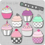 Free Printable Cupcake Clipart For Junk Journals, Art Journals Or   Free Printable Cupcake Clipart