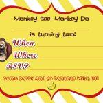 Free Printable Curious George 2Nd Birthday Invitation | Free   Free Printable Curious George Invitations