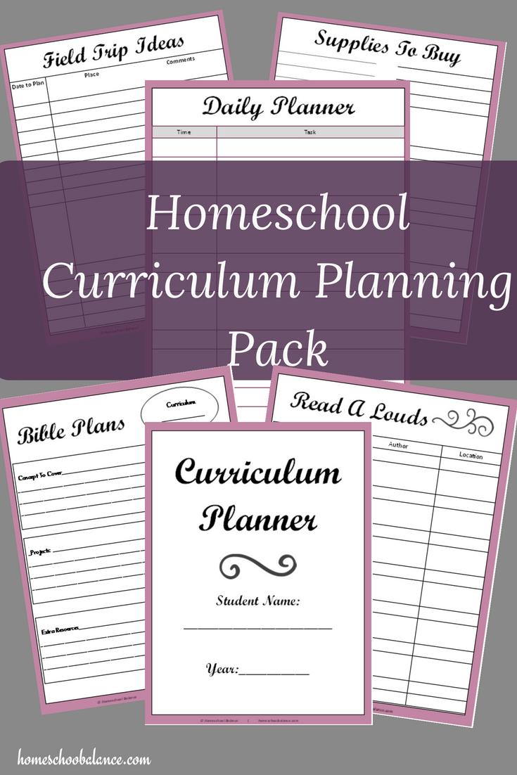Free Printable Curriculum Planner - Homeschool Giveaways - Free Printable Homeschool Curriculum