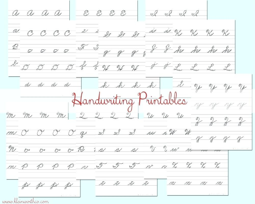 Free Printable Cursive Writing Practice Free Practice Cursive - Free Printable Handwriting Worksheets